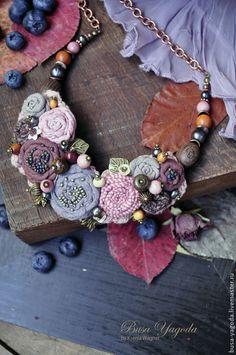 """Колье, бусы ручной работы. Ярмарка Мастеров - ручная работа Колье """"В саду из роз"""". Handmade."""