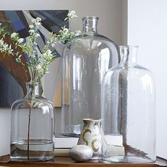 Oversized Apothecary Bottles - Hold it. These Oversized Apothecary Jar Vases are just the right size for displaying bunches of branches + botanicals. Group a few together to create a dramatic centrepiece. Glass Terrarium, Glass Vase, Terrariums, Glass Bottle, Furniture Sale, Modern Furniture, Apartment Furniture, Home Decor Vases, Decorating Vases
