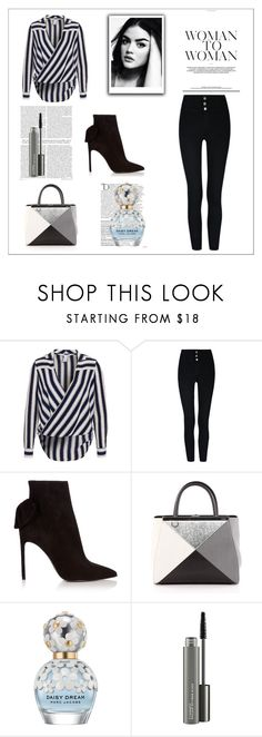 """""""Woman 2 woman x"""" by xpinkplaymatex ❤ liked on Polyvore featuring Yves Saint Laurent, Fendi, Balmain, Marc Jacobs and MAC Cosmetics"""