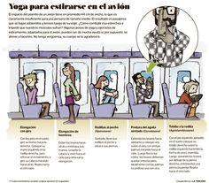 Cómo hacer yoga en el asiento de un avión. Travel Tips, Comics, Memes, Funny, Fitness, How To Make, Europe, Cover Pages, Viajes