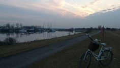Evening on our way home. ... Tags: #Batavus, #Diva, #Bicycle, #Bike, #small #adventure, #marina