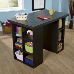 Folding Table for walk-in closet... Counter Height Craft Table - Espresso