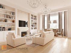 Фото гостиная из проекта «Дизайн квартиры 151 кв.м. в клубном доме «DEL' ARTE», современная классика»