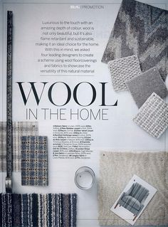 Nato Welton shoots 'Wool in the Home', with styling by Arabella McNie