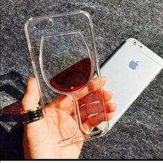 🍷Wine glass iPhone 6 case Hard plastic glass cover. 3D effect. Brand new Accessories Phone Cases