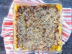 Baked Butternut Mac n' Cheese with Kale and Bacon Breadcrumbs Cheesy Pasta Recipes, Bread Crumbs, How To Cook Pasta, Fall Recipes, Kale, A Food, Food Processor Recipes, Bacon, Cooking Recipes