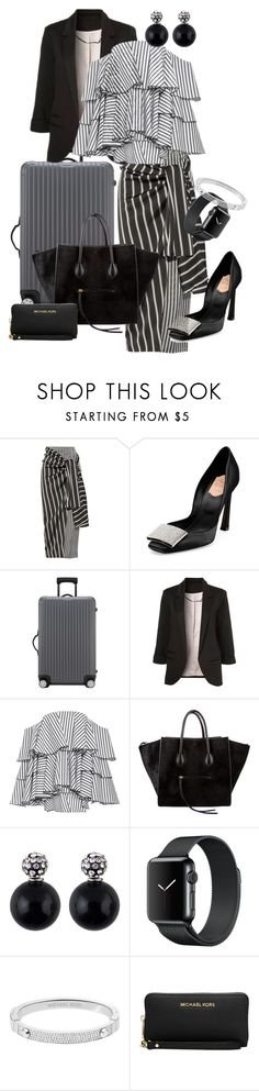 """""""Have Glamour Will Travel"""" by andrew-tillman ❤ liked on Polyvore featuring Joseph, Roger Vivier, Rimowa, WithChic, Caroline Constas, CÉLINE and Michael Kors"""