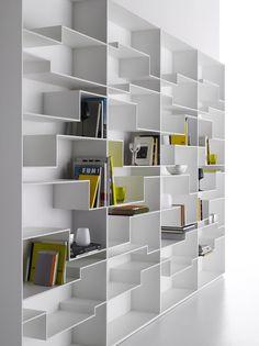 Librería de MDF MELODY by MDF Italia diseño Neuland Industriaedesign