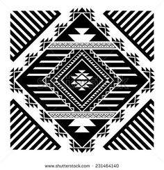 Navajo - Aztec big pattern vector illustration - stock vector