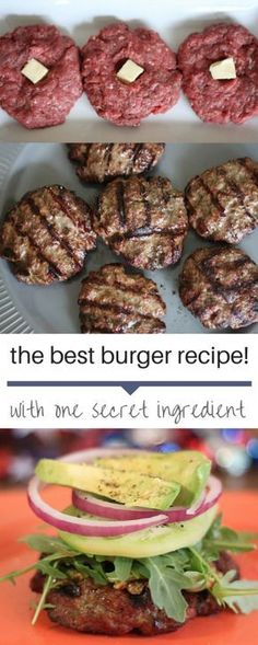 The Best Burger This is the best homemade burger recipe! - The Best Burger This is the best homemade burger recipe! So flavorful and one exce - Yummy Recipes, Dinner Recipes, Yummy Food, Healthy Recipes, Muffin Recipes, Drink Recipes, Healthy Foods, Dinner Ideas, Dessert Recipes
