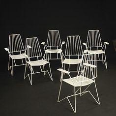Mathieu Matégot , Chairs for Ateliers Matégot, c1950.