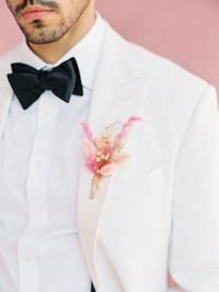 Three Words: Pink, Modern & Tropical! This Is Wedding Inspiration like You've Never Seen Before! Groom And Groomsmen Style, Groomsmen Fashion, Be My Groomsman, Groom Attire, Beach Wedding Inspiration, Wedding Ideas, Beach Groom, Beach Wedding Attire, Modern Tropical