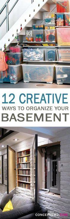 12 Creative Ways to Organize Your Basement - 101 Days of Organization