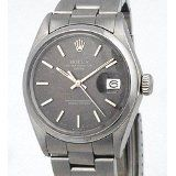 Classic Stainless Steel Oyster Perpetual Date with Original Grey 'Linen' Dial (Watch)  #rolex #watch #jamesbond