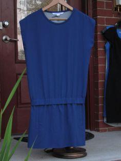$80 New-DVF-Diane-Von-Furstenburg-Blue-Dress-2-Cap-Sleeve-MSRP-345