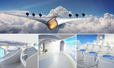 A team from London set out to predict what flight could realistically be like in 30 to 40 years, creating a blended wing aircraft that can hold more people and uses next-generation technology. Travel News, Air Travel, Daily Mail Uk, Imperial College, Trade Secret, Virtual Reality Headset, Packing List For Travel, Beautiful Hotels, Travel Posters