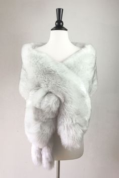 Light Gray Wedding Bridal Fur Stole Wrap Shawl Cape