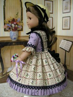 American Girl doll clothes  mid1800s 4 piece ensemble by dolltimes, $179.00