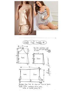 Silky Lace Women's Pajamas Underwear Pattern, Lingerie Patterns, Sewing Lingerie, Clothing Patterns, Sewing Pants, Sewing Clothes, Diy Clothes, Pajama Pattern, Pants Pattern