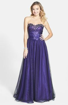 Steppin Out Embellished Gown (Juniors) available at  Nordstrom Embellished  Gown 4384565843ab