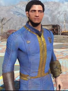 Fallout 4 Armour, Fallout Cosplay, Fallout Costume, Preston Garvey, Armor Clothing, Outfit Combinations, Vintage Outfits, Vintage Clothing, Denim Button Up