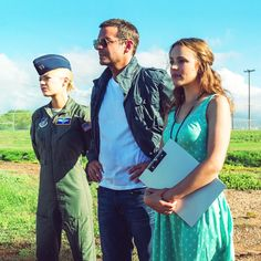 Emma stone Bradley cooper Rachel McAdams in new still for ALOHA Saga, Danny Mcbride, Coming To Theaters, Fantasy Tv, Rachel Mcadams, How To Be Likeable, Film Review, Bradley Cooper, Movies