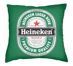 Capa de Almofada Cerveja Heineken.
