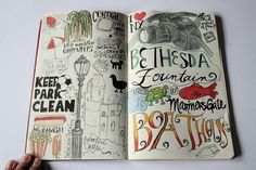 journaling by Liz Caldwell; This is how I always wanted my journal entries to look like when I was in my early teens.