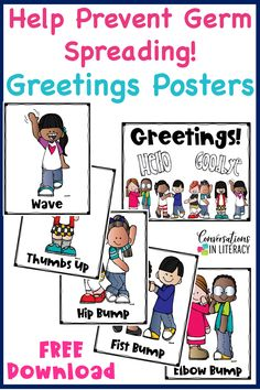 FREE Greeting Posters to help prevent spreading germs in your classroom! Beginning Of The School Year, New School Year, First Day Of School, Back To School, Classroom Rules, Classroom Posters, Kindergarten Classroom, Kindergarten Writing, Classroom Ideas