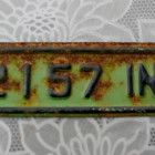 1953 Licence Plate Renewal TOPPER TAG LA2157 IND53