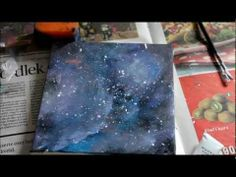 DIY Galaxy Painting.... hopefully this one will turn out better than my first attempt