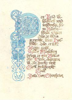 In uenerationem Titivillus: calligraphy