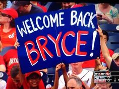 Bryce Harper homers in first at bat after returning from the DL!