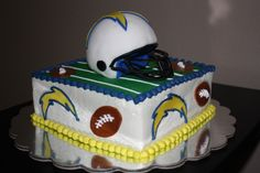 chargers birthday cakes   Sandiego Chargers cake