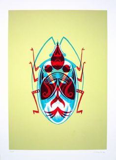 Adam Gale - Beetle 1  I am flippin a biscuit over this print. WOW.