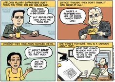 About the Hillary Clinton thing…, Cartoon by Matt Bors.  How true...