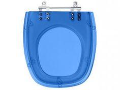 Assento Sanitário Azul Translúcido Laguna - para Louça Hervy - Pontto Lavabo