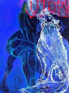 "Saatchi Online Artist: ANNA HALAREWICZ; Acrylic, Painting ""Fashion Victim"" #art"