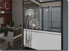 Fensterfolie Pusteblume, | Glasaufkleber Löwenzahn