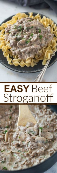 Easy Beef Stroganoff that can be made in less than 30-minutes. A delicious, kid-friendly meal that your entire family will love!  Tastes Better From Scratch