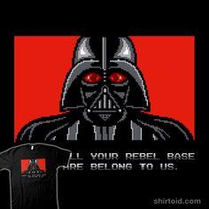 All your rebel base are belong to us. #8bit #brandonwilhelm #brandon89 #darthvader #film #gaming #movie #scifi #starwars #videogame #zerowing