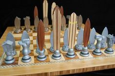 Surf chess set.