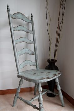 tranquil aqua by SW-great color for my coffee table makeover design modern design sketch chair mismatched chair upholstered office chair dining chair chair comfortable chair makeover wooden chair wooden chair chair design chair ideas Old Wooden Chairs, Old Chairs, Painted Chairs, Eames Chairs, Antique Chairs, Folding Chairs, White Chairs, Distressed Chair, Distressed Furniture