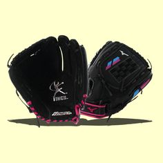 This 2017 Mizuno Prospect Youth Fastpitch Softball Glove is inspired by feedback from legendary gold medalist Jennie Finch. Inside of the glove is Mizuno's Parashock palm pad to help absorb shock for a more comfortable feel on defense. Mizuno Softball Gloves, Fastpitch Softball Gloves, Softball Players, Baseball Playoffs, Baseball Scoreboard, Royals Baseball, Youth Baseball Gloves, Baseball Uniforms, Baseball Pants