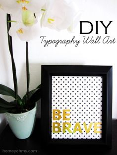 DIY wall art using a simple stenciling technique.