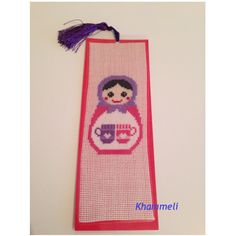 Crossstitch bookmark, matrushka with love.❤️📚