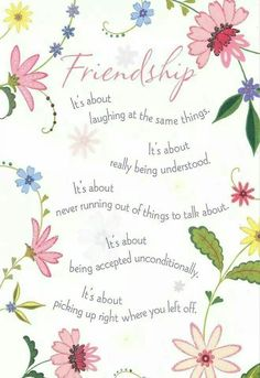 Friendship: It's about...