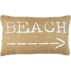 Elise & James Home Beach Arrow Decorative Pillow