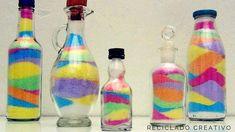 Manualidades con ni?os, una botella de colores con sal y tizas   Aprender manualidades es facilisimo.com