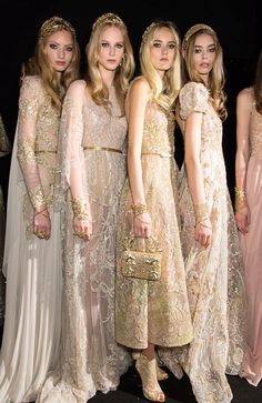 Backstage at Elie Saab Haute Couture Fall 2015-16, Paris.